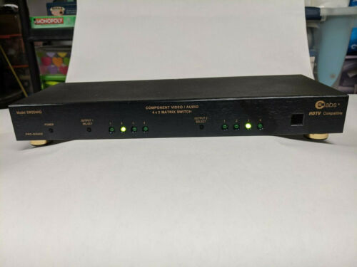 CE LABS SW204HD 4x2 Component HD A/V Matrix Switch w/ power supply and remote