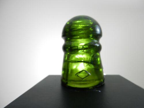 Green Bell Telephone of Canada Diamond Pony Glass Insulator