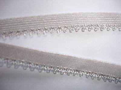 10m elastische Spitze 0,25€/m silbergrau,  MN36