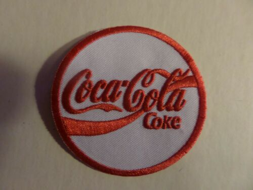 COCA COLA red & white  Embroidered 2-7/8 x 2-7/8 Iron On Patch