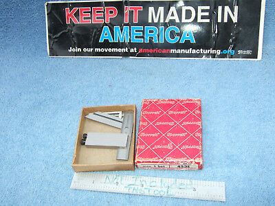 Die-makers Starrett 453-e Square Vintage Usa Machinist 5 Pieces Case Inspection