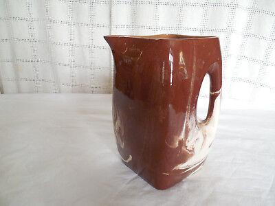 Milk Chocolate Glaze - Vintage milk chocolate glaze pottery pitcher