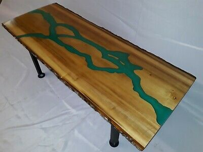 Custom made to order Live edge River Coffee table Poplar