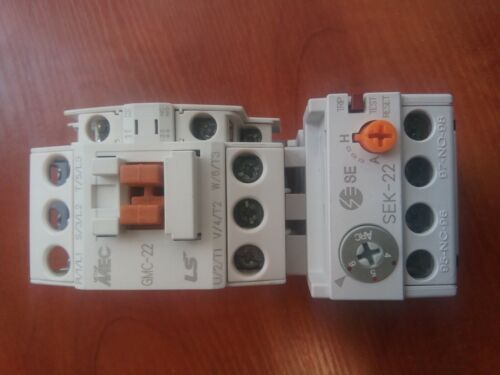 Original LS GMC-22 Contactor 11kW 22A Coil AC230V + Overload Relay SEK-22(4-6)A
