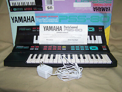 Yamaha PortaSound PSS-80 electronic keyboard synthesizer w box manual and PS for sale  Shipping to India