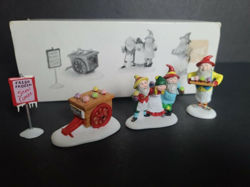 Department 56 Heritage Village Collection Snow Cone Elves
