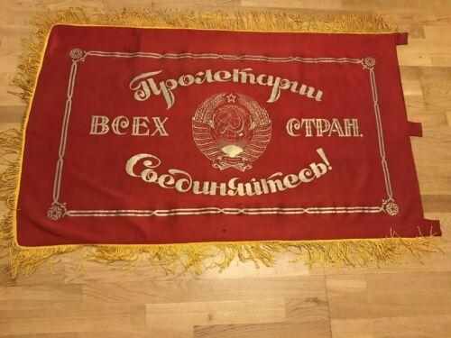 Banner USSR Coat of arms USSR Original Vintage