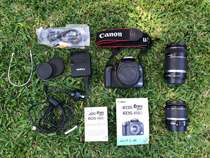 Canon EOS 450D Digital SLR, Twin Lens Kit (55-250mm & 18-55mm)