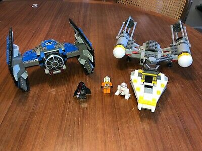 #7150 Star Wars Tie Fighter and Y-Wing Fighter Set Assembled Starting at $24.95!