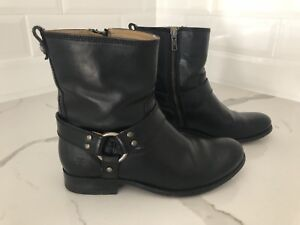 Classic Frye Boots in Black Genuine Leather
