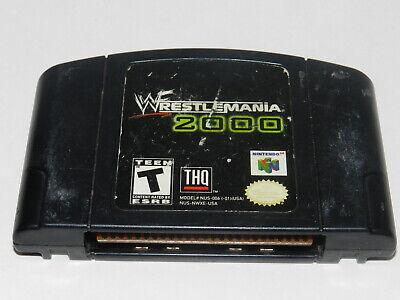 WWF Wrestlemania 2000 Nintendo 64 N64 Video Game Cart