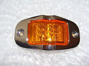 4-LED-AMBER-BOAT-TRAILER-Sealed-Clearance-Side-Marker-LIGHTS-Waterproff