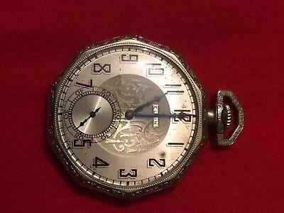 (pocket watches antique, Elgin fancy octagon shape pocket watch. 17 jewels)