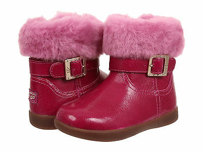 Tv Toddlers (Toddler UGG Australia Gemma Patent Leather 1005149T V Pink 100% Authentic B.)