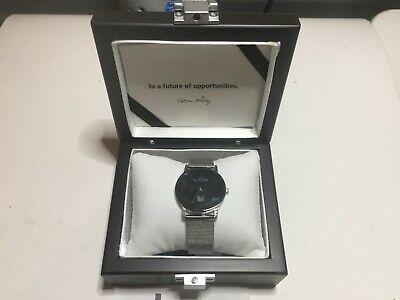 NEW Skagen Ultra Slim Watch Large 22mm Black Face No Battery Silver Display Box