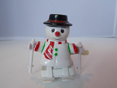 2 1/2 inch Wind up skiing Snowman Toy  Very Cute  Works!