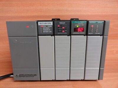 Allen Bradley Slc 500 1746-a4 4 Slot Rack Full 1746-p1 Power Supply 502 Cpu Io