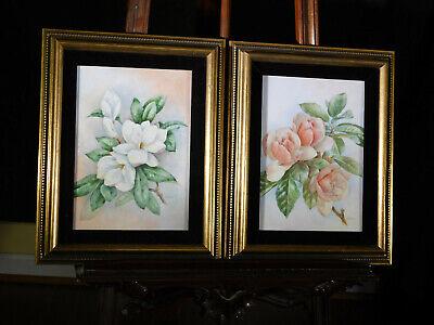 Framed Limoges/Porcelain Tiles Artist Signed N.Gulick