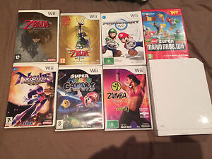 Wii Nintendo console with games Zelda and mario Chadstone Monash Area Preview