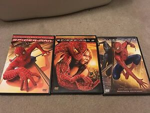 Spider-Man Movie collection lot of (3) DVD. Set of movies 1-3.