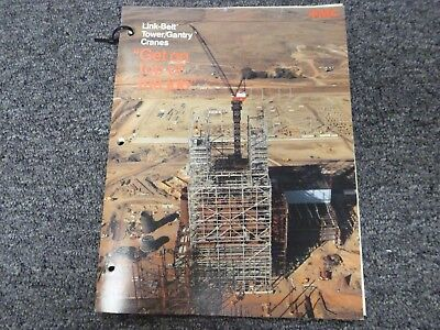 Link Belt Tg-1900 Tower Crane Specifications Lifting Capacities Manual