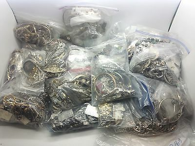 250 GRAMS WHOLESALE LOT RESELL STERLING SILVER 925 JEWELRY ALL WEARABLE NO SCRAP