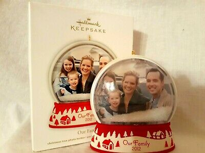 "Hallmark ""Our Family Photo Holder"" Christmas Ornament--Dated: 2012"