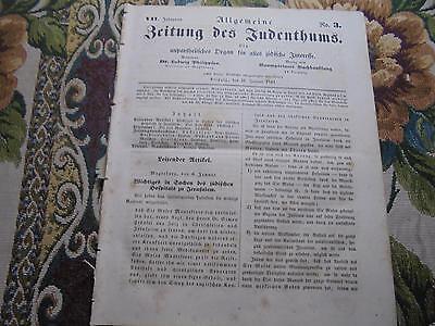 1843 Zeitung ...Juden 3 / Hospital in Jerusalem / Leipzig Synagoge / Gießen