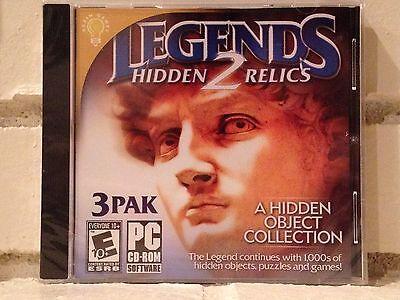 Computer Games - legends 2 --- 3-pack of hidden object adventures --- computer games --- new