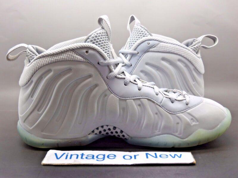 66d12146aa9 ... Nike Air Little Posite One PRM Foamposite Wolf Grey Suede GS 2015 sz 7Y  ...