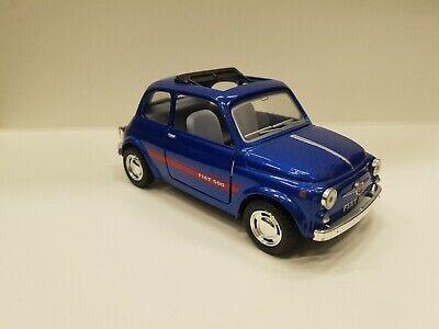 Fiat 500 Blau Kinsmart Spielzeug Modell 1/24 Maßstab Neu Druckguss Auto Offen gebraucht kaufen  Versand nach Germany