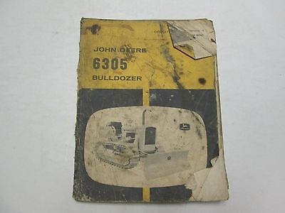 John Deere 6305 Bulldozer Operators Manual Damaged Stained Factory Oem Deal