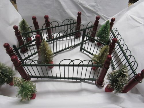 Antique Victorian Feather Christmas Tree Posts & Fencing. A. W. Drake MFG Train