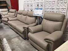 Milan 100% Genuine Leather 3 Seater Recliner Lounge & 2 Recliner Castle Hill The Hills District Preview