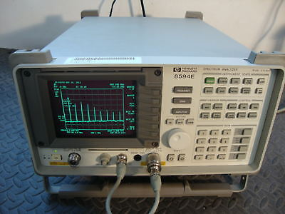 Hp Agilent 8594e Spectrum Analyzer Cald 9khz To 2.9 Ghz Tracking Generator 10
