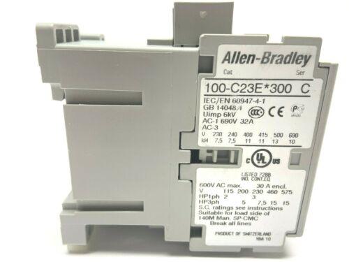 Allen Bradley 100-C23E*300 Ser C Contactor
