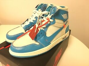 UA Nike Off White Air Jordan 1 UNC sz 11 deadstock
