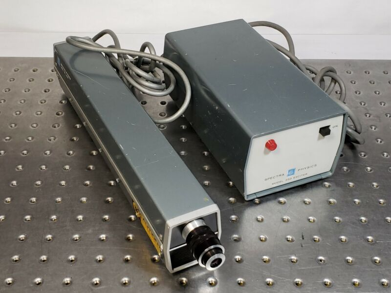 0.8mW 632.8nm Red HeNe Helium Neon Laser System Vintage Spectra Physics 133/233