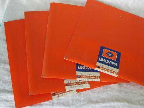 100 SHEETS Vintage AFGA BROVIRA BEH 1 SEALED PHOTOGRAPHIC PAPER 8X10 (4) pks