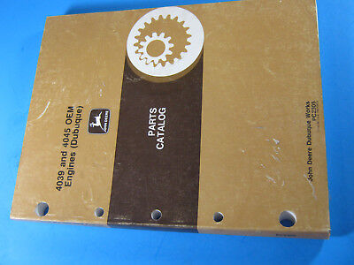 John Deere 4039 4045 Ome Engines Parts Catalog Manual Pc2305 1991