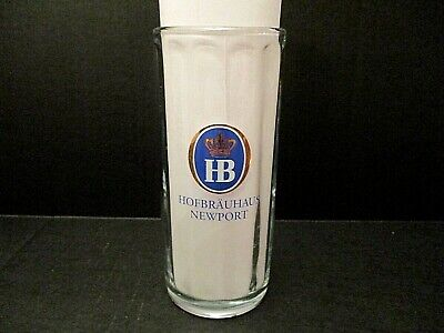 Vintage Hofbrauhaus Newport Glass Mug Beer Stein 0.5L Sahm