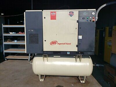 Ingersoll Rand Up6-25-125 Rotary Screw Air Compressor W Air Dryer 3-phase 2006