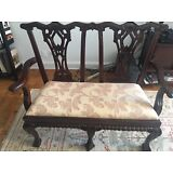 Padded Antique Bench