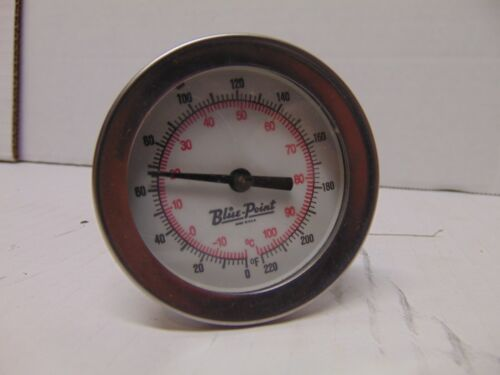 """Blue Point Thermometer 0 to 220 Fahrenheit & Celsius metal USA 6 1/2"""" long"""