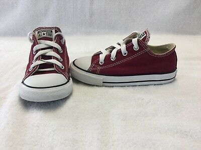 Converse All Star Chuck Taylor Toddler Boys/girls Burgundy Shoes~size 9 C