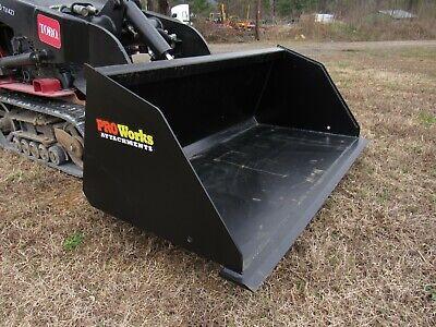 54 Mulch Snow Litter Smooth Bucket Attachment Fits Mini Skid Steer Toro Dingo