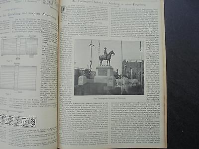 1901 Sdt. Bauzeitung 12 /   Nürnberg Prinzregenten Denkmal