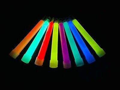 Club Glow Sticks (6 Inch Industrial Grade High Intensity Light Sticks with 12 Hour Duration)