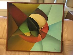 Modern Abstract Oil on Canvas Painting