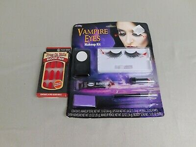 Fake Vampire Nails (Instant Vampire Halloween Set - Fake Blood, Press-On Nails, Makeup, Lashes)